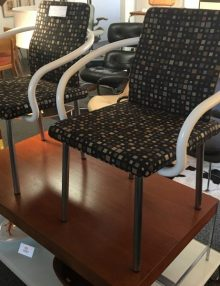 Mid Century Modern Dark Color Square Dots chairs
