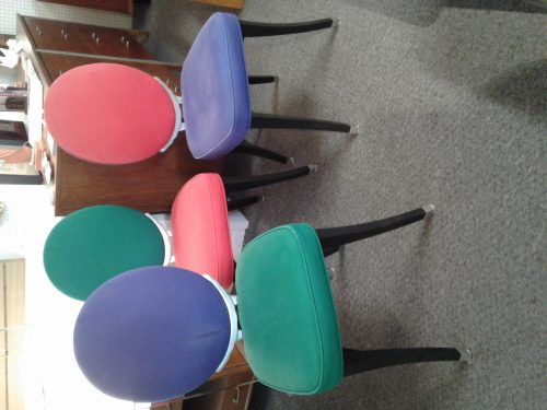 Mid Century Modern Colorful Chairs