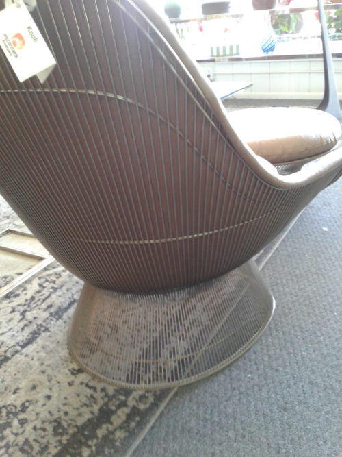 Warren Platner Lounge Chair and Ottoman Back Side